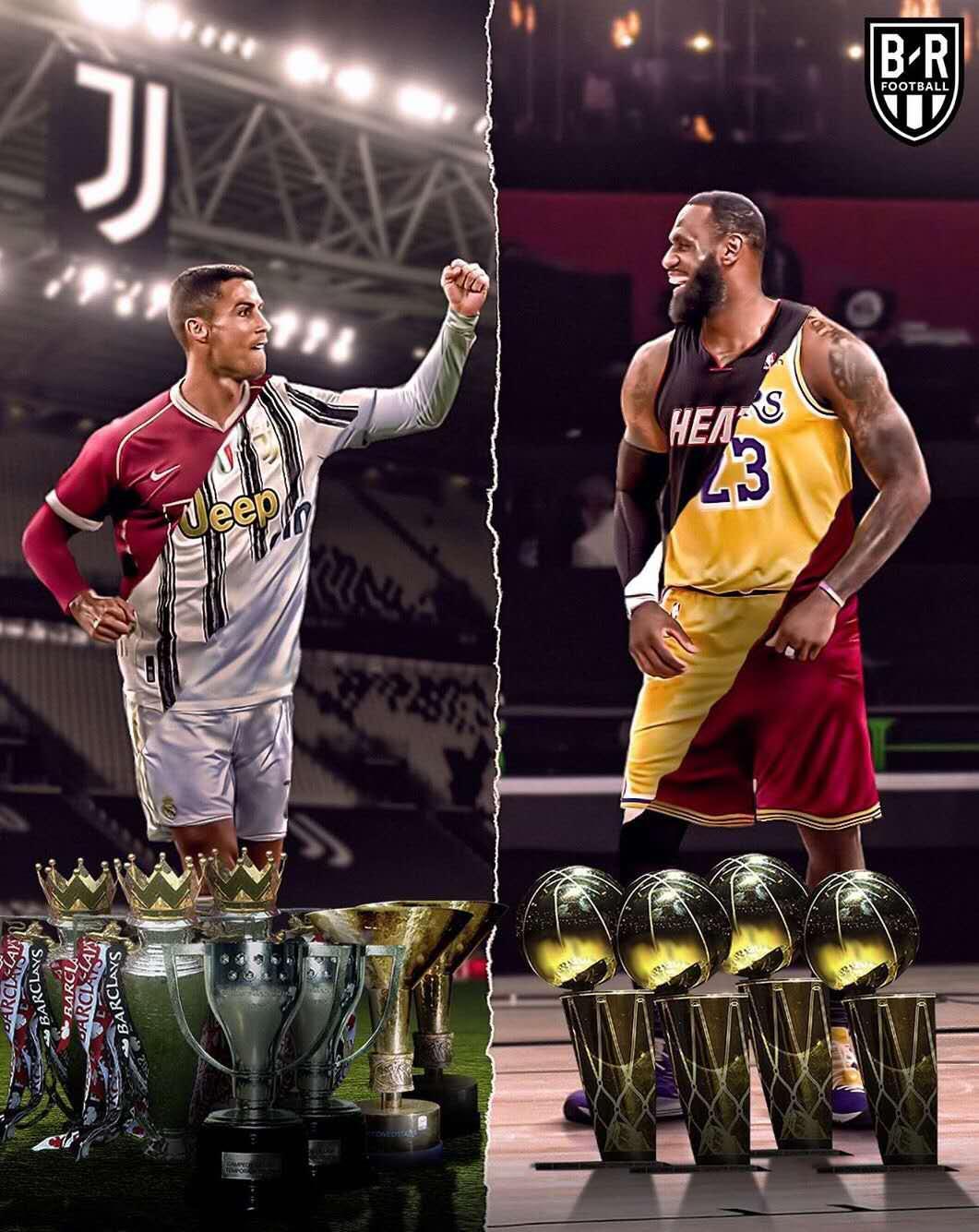 BR对比C罗和詹姆斯:在三支球队获得冠军+MVP的传奇