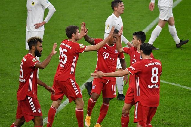 德国杯:舒波-莫廷双响穆勒点射破门,拜仁3-0迪伦