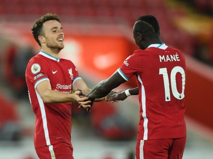 超火!若塔连续俩主场进球,助利物浦获英超主场62场不败