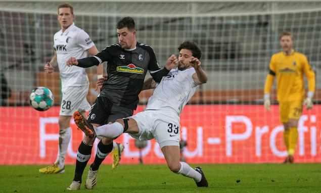 德甲:格里福破门巴尔加斯扳平,奥格斯堡1-1弗赖堡