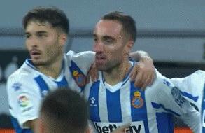 GIF:达德尔突入禁区劲射破门,西班牙人2-0萨拉戈萨