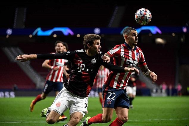 欧冠:费利克斯破门穆勒点射扳平,马竞1-1拜仁