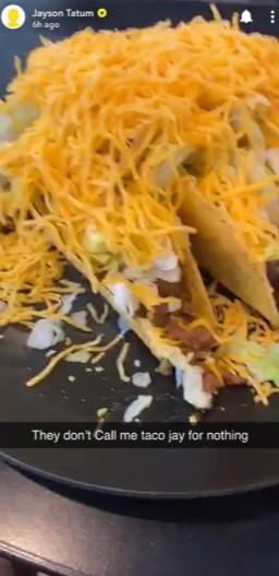 塔特姆晒自制Taco:人们都叫我Taco杰森