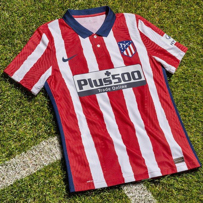 马竞发布下赛季主场球衣,领口处纽扣设计彰显复古风格