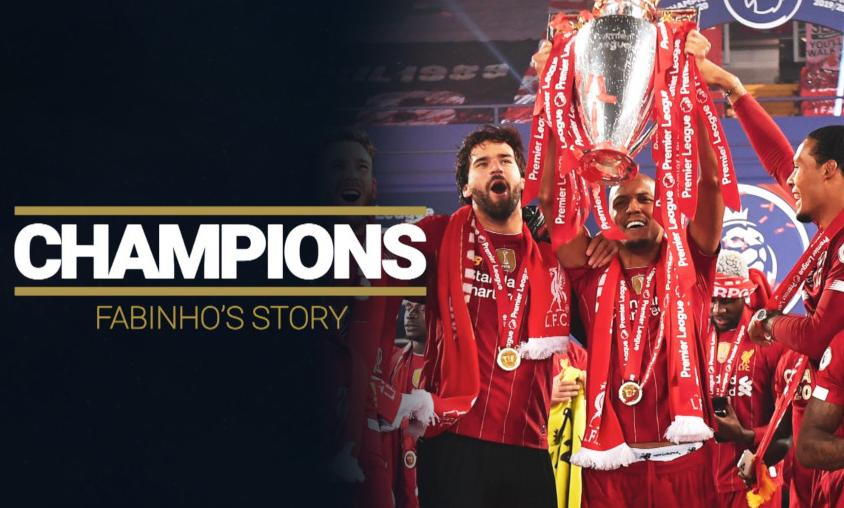 法比尼奥:我们是联赛改名英超后,第一批夺冠的利物浦