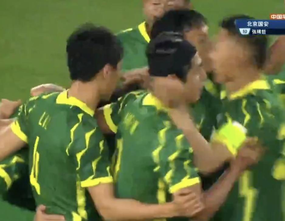 GIF:张稀哲一分钟梅开二度,北京国安2-0大连人